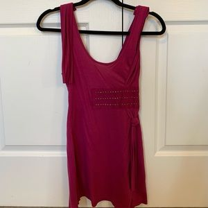 Buffalo Jeans Fuschia Studded Open Back Tank L